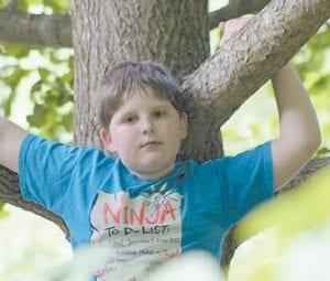 Seth Lennon Hampton at the age of 10.