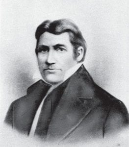 """Davy Crockett, American pioneer and member of the U.S. Congress, is shown in a portrait drawing. It's pronounced """"app- uhlatch uh,"""" not """"app-uhlay sha."""" (AP Photo)"""