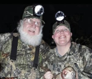 Father and daughter Steve Brewer and Nema Brewer-Candy were happy after Ms. Brewer-Candy killed a wild boar in Florida.