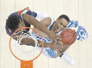 """""""He's a handful,"""" Auburn coach Brue Pearl said about PJ Washington after the Tigers upset Kentucky in the NCAA Tournament. """"We tried to double him sometimes. We fouled him a lot."""" (AP Photo)"""