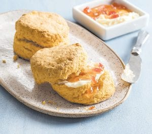 """This photo provided by America's Test Kitchen shows Sweet Potato Biscuits. This recipe appears in the cookbook """"Vegetables Illustrated."""""""