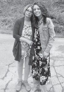 Kim Pennington Lucas with her daughter Kaci Lucas after Kaci's baptism at Fishpond Lake.