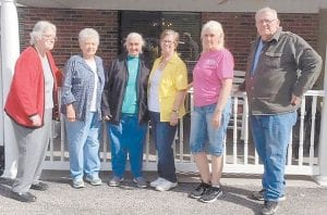 On April 12, six of the Letcher County Senior Citizens, Claudia, Lorraine, Wilma, Rose, Lydia, and Elmer, visited Letcher Manor Nursing Home to see our friend Estel Taylor.