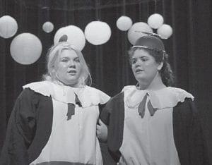 """Drew Eden Hampton and Haley Webb acted in """"Alice in Wonderland""""."""