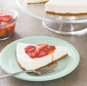 This photo provided by America's Test Kitchen shows Icebox Cheesecake. This recipe appears in the cookbook Perfect Cake.