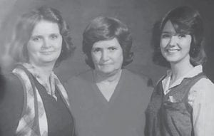 Jenny Lynn Craft Yonts, Virginia Webb Craft, and Suzanne Craft Ramsey