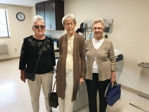 Count Letcher County residents (from left) Linda Hatton, Emma Amburgey and Jo Combs among those who were impressed by the unusually large patient rooms and other parts of Pikeville Medical Center's new Specialty Clinic at Whitesburg, which held an open house last week. The facility is located in the former Super 8 Motel in West Whitesburg, but you would never know the building isn't brand new. (Eagle photos)