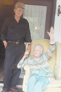 June Maggard and her first cousin Clarence Carter