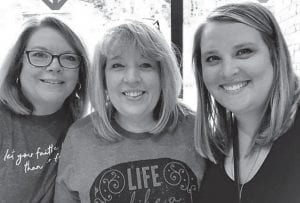 Lisa Bates, Lee Bates Adams, and Lee's daughter Brittney Adams