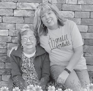 Lee Bates with her mom Helen Bates
