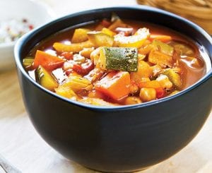 Use your choice of summer vegetables in this soup, just maintain the suggested quantity.