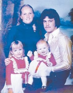 Terry and Sandra Wilson with their two daughters, Candice Combs and Melissa Sexton
