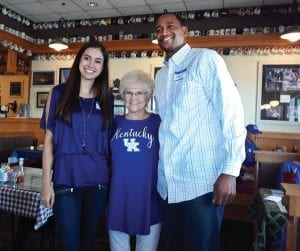 Maci Morris, left, and Reggie Hanson both could have easily left UK during some difficult times but stayed and both are fan favorites. (Larry Vaught Photo)