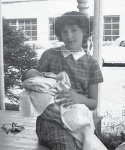 Dorothy Holbrook Lucas holds her niece, Diane Holbrook Cook.