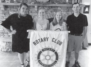 Rotary Scholarship winners are (left to right) Alyssa Rose, Isabella Back, Madison Adams and Brandon Boggs