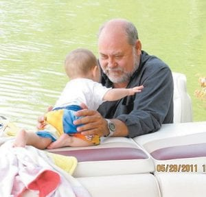 Charles Yonts with one of his grandsons, Jude Yonts
