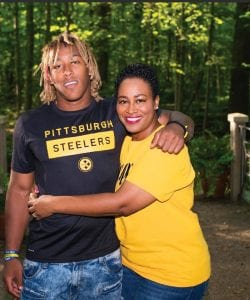 April Snell didn't want her son, Benny, to leave UK but is now all-in with the Pittsburgh Steelers. (Benny Snell Sr. Photo)