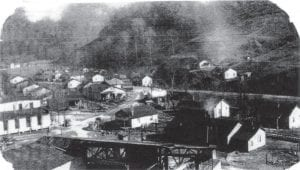 This is how the old Marlowe coal camp looked in the 1940s and 1950s. Portions of the old community will be used for the Thunder Mountain complex.