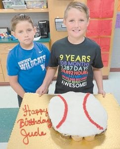 Jude Yonts is shown with his little brother Jace Yonts.