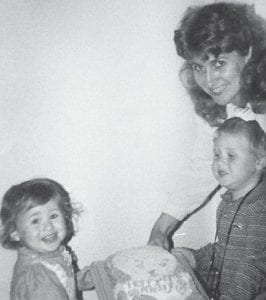 Sandy Jones is pictured with two of her children, Sam and Becky Jones Isom.