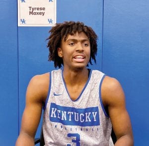 Tyrese Maxey has been thriving in practice, especially on defense. (Kentucky Today/Tammie Brown)