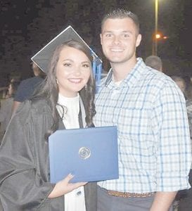 Racheal Runyon is pictured with her boyfriend Dalton Hayes.