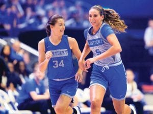 Blair Green, right, and Emma King know they will be role models for young in-state players. (Jeff Houchin Photo)