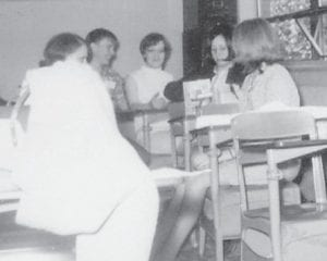 Left to right are Donna Taylor, Larry Tolliver, Judy Holbrook, Rosemary Hall and Susan Hampton. (Photo by David G. Estep)