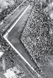 Vietnam Veterans Memorial is 37 years old Crowds gathered around the new Vietnam Veterans Memorial during the dedication on the National Mall in Washington, D.C., on Saturday, Nov. 15, 1982. The monument is designed by architect Maya Ying Lin. (AP Photo/Charles Pereira)