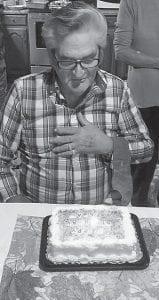 John Wayne Adams celebrates his birthday.
