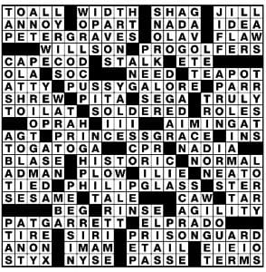 Newsday Crossword Puzzle Anser