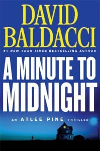 """This cover image released by Grand Central Publishing shows """"A Minute to Midnight,"""" by David Baldacci."""