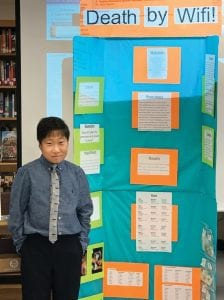 Jenkins Elementary student Jacob Estep, a fifth grade student at the Burdine campus, will represent Jenkins in the Kentucky Science Fair in Lexington in March.