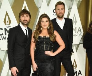 Dave Haywood, from left, Hillary Scott, and Charles Kelley of Lady Antebellum were photographed arriving at the 53rd annual CMA Awards in Nashville earlier this month. (Invision/AP)