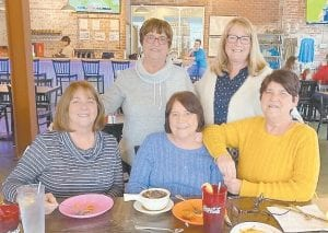 In the photo are (front, left to right) Libby Honeycutt, Janet Napier, Juanita Caudill, (back) Ella Caudill and Helen Roberts.