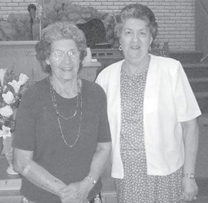 Dorothy Pennington Tacket is pictured with her baby sister Linda Joyce Pennington Hall.