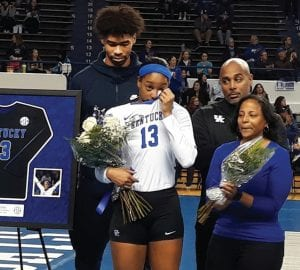 Kentucky volleyball star Leah Edmond says her boyfriend, Nick Richards, was an inspiration for her because she saw how hard he was working to improve as a basketball player. (Vicky Graff Photo)