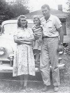 Dawes and Evelyn Yonts with their oldest son George Yonts