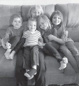 Velma Profitt Caldwell and all her grandchildren