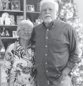 Lizzie Mae Wright and son Darius Wright are pictured at his home in Alabama.