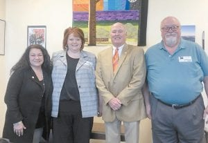 Senator Johnny Ray Turner, D-Prestonsburg, and Representative Angie Hatton, DWhitesburg, met with Letcher County Superintendent Denise Yonts and her husband Rocky on Jan. 8 in Frankfort to discuss education priorities for the 2020 legislative session. Senator Turner represents the 29th Senate District, which includes Floyd, Harlan, Knott, and Letcher counties. For more information on the 2020 Kentucky General Assembly visit, legislature.ky.gov.