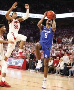 Immanuel Quickley has spent extra time to build his confidence and become one of Kentucky's best players this season. (Vicky Graff Photo)