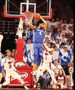 Nick Richards is leading UK in scoring, rebounding, blocks, shots made and field goal percentage and is putting up numbers like no one since Anthony Davis did eight years ago. (Vicky Graff Photo)
