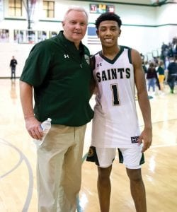 Briarcrest Christian coach John Harrington says John Calipari's coaching style is similar to how he coaches Kennedy Chandler, the top-rated point guard in the 2021 class. (Briarcrest Christian Photo)