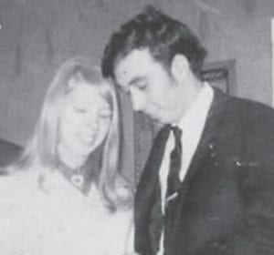 Tom and Billie June Craft Richardson on their wedding day in February 1970.