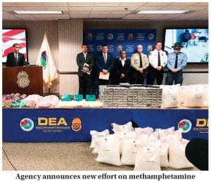 """U.S. Drug Enforcement Administration Acting Administrator Uttam Dhillon announced the launch of Operation Crystal Shield at a news conference in Atlanta last week. Federal authorities say they are targeting methamphetamine """"transportation hubs"""" around the country in an effort to block the distribution of the highly addictive drug. (AP Photo)"""