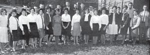 Pictured are the members of the 1963-64 Whitesburg High School Chapter of the Distributive Education Clubs of America (DECA). The members elected the following students to serve as this year's officers: Barbara Pratt, Secretary-Treasurer; Hilda Faye Brooks, Vice-President; Sheila Brown, Historian; Jimmy Yinger, Parliamentarian; and Shade Jones, President. The Chapter Advisor is Mr. Warren Combs.