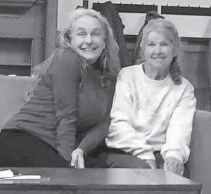 Ma Crow of Ma Crow & Company (left) and Rose Ballard at a concert at Leo's Coffee House in Cincinnati, Ohio