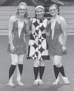 Beechwood High School Winter Guard member Katelyn Nottingham is shown at the far right.