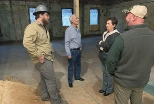 Above, Whitesburg Mayor James W. Craft, second from left, was among the city offi cials who visited the old hotel last week.